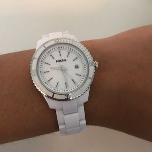 White link Fossil watch